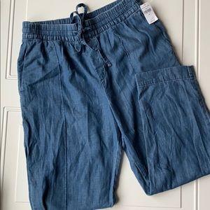 GAP Pants - NWT Gap Chambray Loose Pants SZ 10